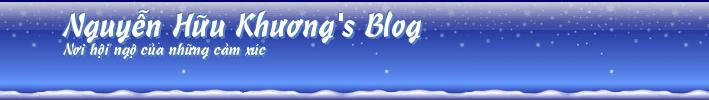 Nguyễn Hữu Khương's Blog