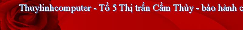 Thuylinhcomputer - Tổ 5 Thị trấn Cẩm Thủy - bảo hành cả chữ tín