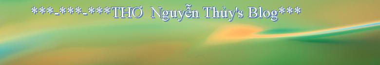 ***-***-***THƠ  Nguyễn Thủy's Blog***
