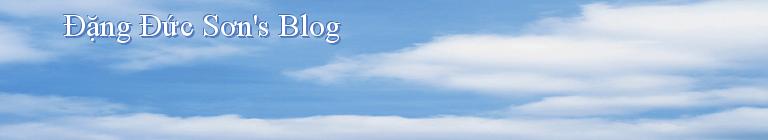 Đặng Đức Sơn's Blog