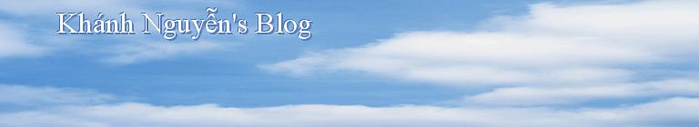Khánh Nguyễn's Blog
