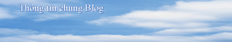 Thông tin chung Blog