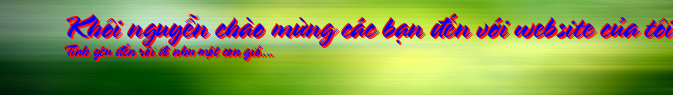 Khôi nguyễn chào mừng các bạn đến với website của tôi ........